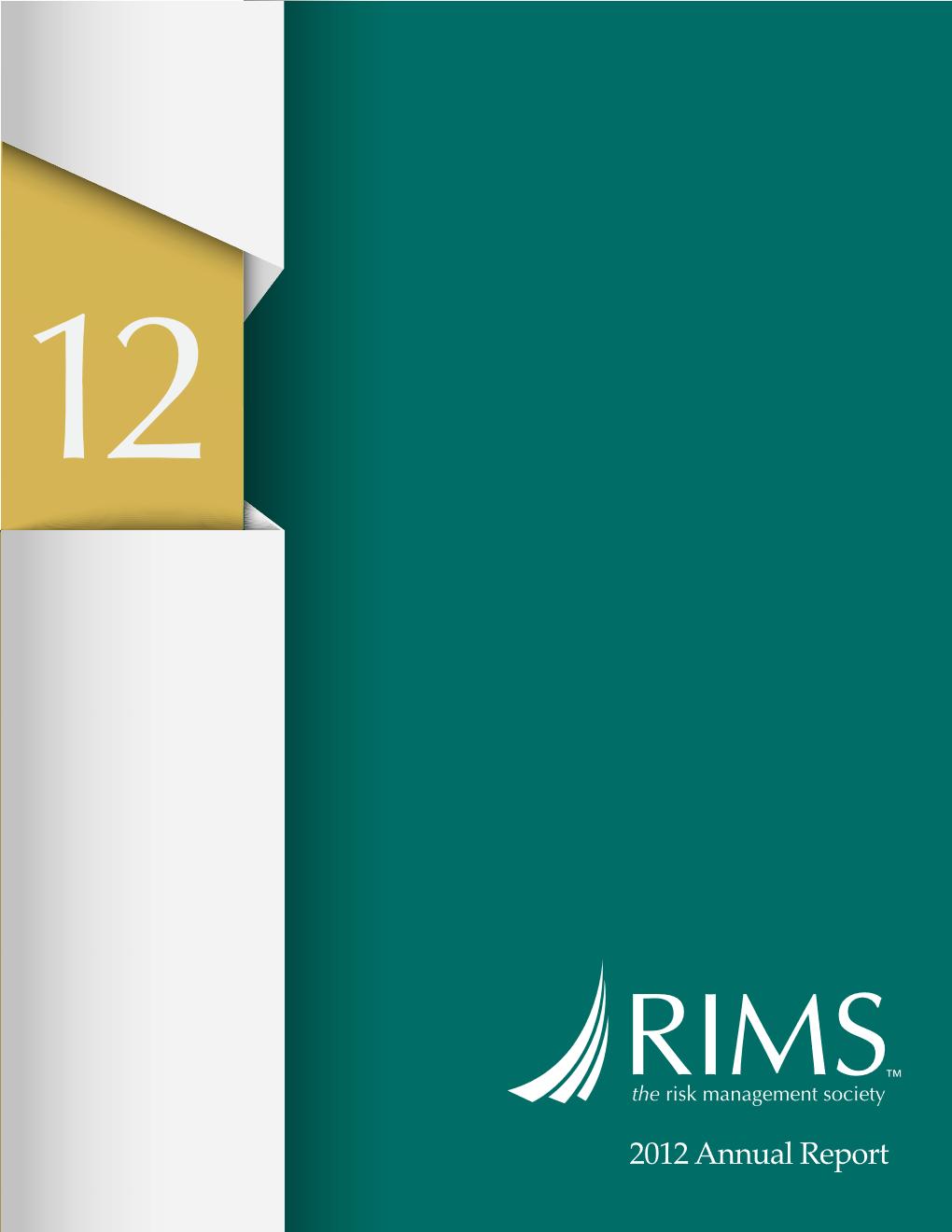 RIMS_Annual_Report_2012